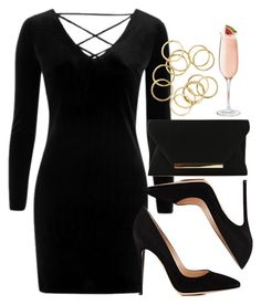 """""""Sin título #12009"""" by vany-alvarado ❤ liked on Polyvore featuring Topshop and Gianvito Rossi"""