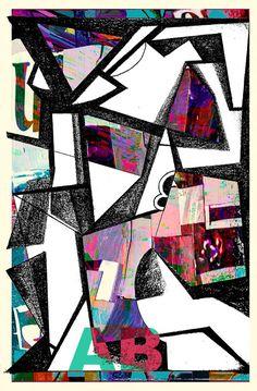elaborazione digitale su disegno originale B&N -Autore-Angelo Bressanini