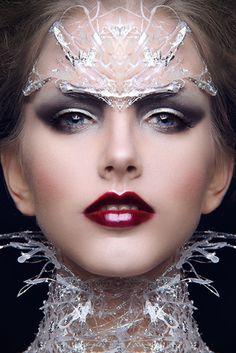 She ruled from her crystalline palace, velvet glove over iron fist.  (Sheri Vegas, makeup artist)