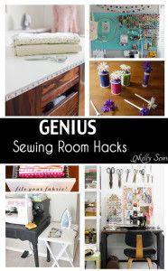 Genius Sewing Room Hacks - Soooo many good ideas! - Melly Sews