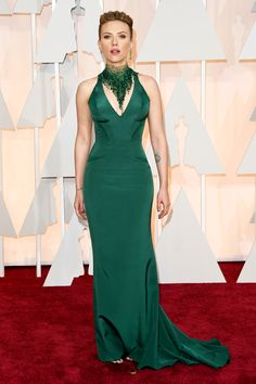 Scarlett Johansson at the 2015 Oscars. See all the best red carpet arrivals here: