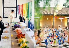 it's all in the details: rainbow wedding