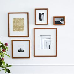 Beautiful wooden frames and matting for a gallery wall