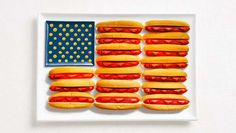 Banderas con la comida nacional