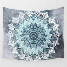 BOHOCHIC+MANDALA+IN+BLUE+Wall+Tapestry+by+Nika++-+$39.00