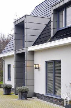 Grey Exterior, Exterior House Colors, Exterior Design, Bungalow Extensions, House Extensions, House Extension Design, House Design, Modern Roofing, Dormer Windows