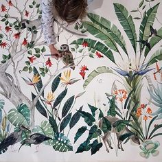 Putting the finishing touches on huge botanical watercolour commissions. x hot press Fabriano South African Art, Henri Rousseau, Natural History, Watercolour Painting, Botany, Floral Tops, My Arts, Photo And Video, Wallpaper