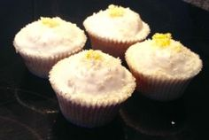 Low Fat White Chocolate Lemongrass Salted Macadamia Cupcakes recipe - a beautiful lemon flavour twist with a low fat secret making it absolutely delicious AND almost guilt free!