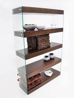 Architecture Walnut Wood Bookshelf | Modern Furniture • Brickell Collection