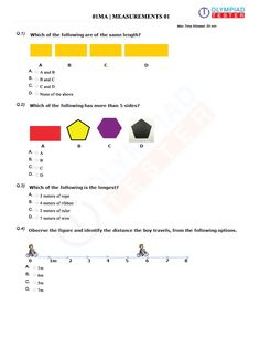 CBSE Class 1 Mathematics course has NCERT Solutions, revision notes, sample papers, online mock tests and PDF solutions to reference books. Olympiad Exam, Math Olympiad, Sample Question Paper, Sample Paper, Online Mock Test, Online Tests, Worksheets For Class 1, Printable Worksheets, Class 1 Maths