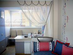 Шторы для детской в морском стиле – светлое и легкое украшение помещения и стильный функциональный его элем�