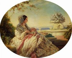 Child of Queen Victoria & Prince Alfred & husband of Princess Louise Margaret of Prussia Prince Arthur (Arthur William Patrick Albert) Duke of Connaught and Strathearn. Queen Victoria with Baby Prince Arthur by Franz Xaver Winterhalter. Reine Victoria, Victoria Reign, Queen Victoria Prince Albert, Victoria And Albert, Franz Xaver Winterhalter, Prince Arthur, Prince William, Queen Victoria Birthday, Roi George