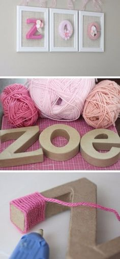 Yarn wrapped letters is part of Cute girls bedrooms - [ad Yarn wrapped letters Click the image for 20 Craft Ideas for Girls DI , bastelideen briefe wrapped up click [ad Source by anetteberchgmx Baby Bedroom, Kids Bedroom, Bedroom Ideas, Kids Rooms, Bedroom Art, Nursery Ideas, Bedroom Designs, Bedroom Yellow, Room Baby