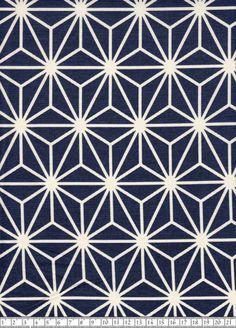 Stoff japanische Motive - Japanischer Stoff: Big Asanoha blau - ein Designerstück von Himbeerfell bei DaWanda