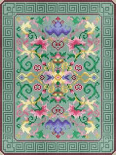 miniature doll rug floral sonnet design...