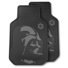 The Darth Vader Floor Mats - Hammacher Schlemmer Hammacher Schlemmer, Star Wars Gifts, Gadget Gifts, Floor Mats, Dark Side, The Darkest, Nerdy, Automobile, Darth Vader