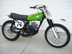 Pete Wright Kawasaki KX 125 cc. 1974                                                                                                                                                                                 Plus