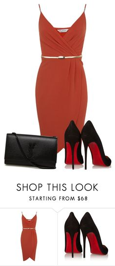 """""""Untitled #2507"""" by ania18018970 ❤ liked on Polyvore featuring Miss Selfridge, Christian Louboutin and Yves Saint Laurent"""