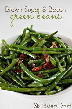 Splenda brown sugar and bacon green beans