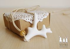 White coral ceramic pendant by SillyRice on Etsy, £10.00
