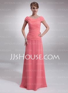 Mother of the Bride Dresses - $172.59 - A-Line/Princess Scoop Neck Floor-Length Chiffon  Charmeuse Mother of the Bride Dresses With Ruffle  Beading (008006053) http://jjshouse.com/A-line-Princess-Scoop-Neck-Floor-length-Chiffon--Charmeuse-Mother-Of-The-Bride-Dresses-With-Ruffle--Beading-008006053-g6053