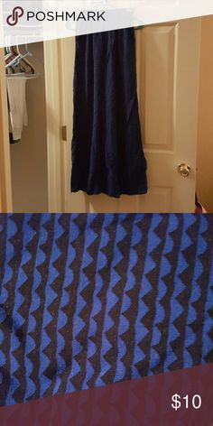 Never worn palazzo pants Never worn elastic waist black and blue print palazzo pants with wide leg without tags. Xhilaration Pants Wide Leg