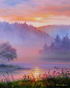 """Mist on the River"" Varvara Harmon"