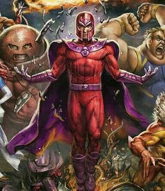 Among the most powerful, recognizable, and infamous mutants to inhabit the planet Earth, Magneto was the X-Men's first major nemesis. Now known as a revolutionist and terrorist, Magneto has fought for the X-Men as many times as he's been against them. Marvel Images, Comic Artist, Catwoman, Comic Books Art, X Men, Marvel Universe, Thor, Picture Video, Iron Man