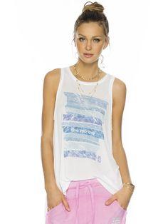 Dive Into Love White Lizzy Fashion Tank