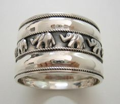 sterling silver hammered napkin rings