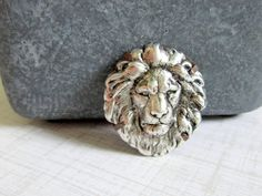 Lion Brooch Woodland Brooch Lion Pin Animal Brooch by DaysLongGone, $28.00