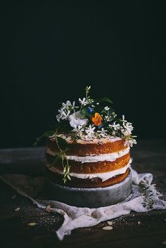 Orange Almond Cake with an Orange Blossom Buttercream + Summer 2014 Online Food Styling & Photography Workshop - Adventures in Cooking Brownie Desserts, Mini Desserts, Just Desserts, Dessert Crepes, Oreo Dessert, Pretty Cakes, Beautiful Cakes, Baking Recipes, Cake Recipes