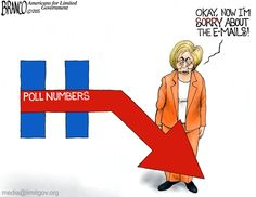 Killary apology seems a bit insincere, coming only after her poll numbers dropped. Cartoon by A.F.Branco ©2015