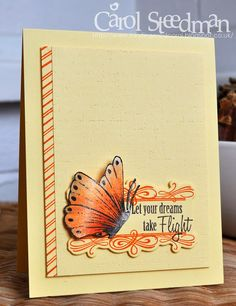 Inky Fingers: Papertrey Ink and Sweet n Sassy Butterfly card