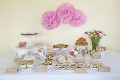 """You might remember this sweet table I styled a while ago, where I used giant pink tissue flowers (or half paper pompoms, if you will) as simple wall décor. I call them """"lazy"""" tissue flowers because they are so fast and easy to make. I am sure there are more sophisticated methods to doContinueReading"""