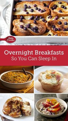 You don't have to be a morning person to enjoy these delicious breakfasts! The work is done the night before so you can roll out of bed and pop breakfast in the oven.
