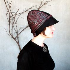 Womens Modern Fall Cloche Metallic by TerryGraziano