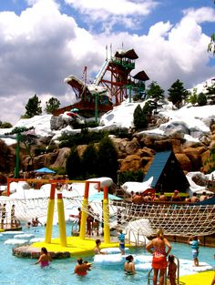Blizzard Beach ((They get to choose between a few different Disney things for the deal... They chose *Magic Kingdom*, *Blizzard Beach* and *Disney Quest*.... Now I just need to tell Daddy what he's paying for! LOL...))