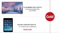 Gold Bilgisayarda Lg Led TV ve iPad Min Fırsatları