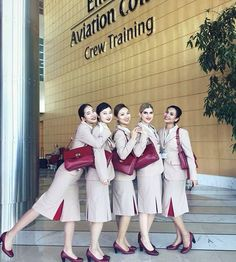 Emirates cabin crew after capturing a gang of cocaine smugglers at 30,000 ft! The all female crew became suspicious at the amount of time a group of three men were spending in the toilet. Investigating, two of the stewardesses encountered one of them secreting cocaine. He immediately confessed and surrenderedto them, pointing out his accomplices. All five women then rounded the gang up, tied them up securely in the rear of the plane and radioed their capture ahead.