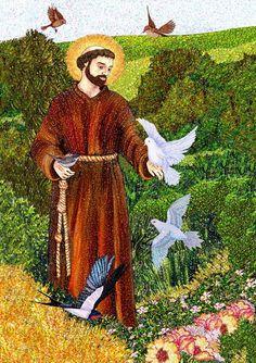 San Francesco che predica agli uccelli