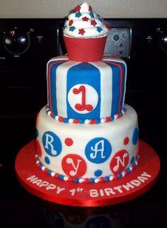 ... 4th of July 1st Birthday - cake