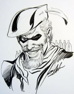 Green Arrow sketch by Neal Adams