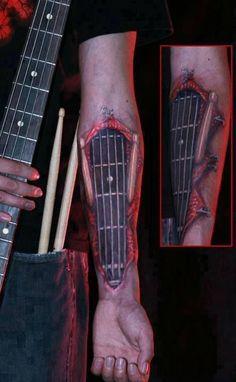 Music Tattoo Designs: Guitar music tattoos design images