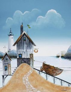 The little boat waited for him to come and take them out to sea...   Gary Walton - Lifeboat Rescue