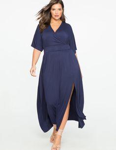 Kimono Sleeve Maxi Dress from eloquii.com