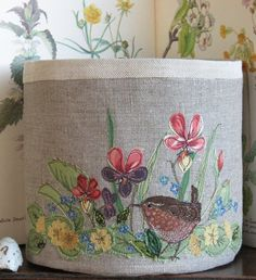 Fabric bowl - Wren and Wildflowers