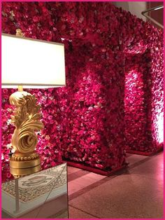 Love the floral wall by Todd events