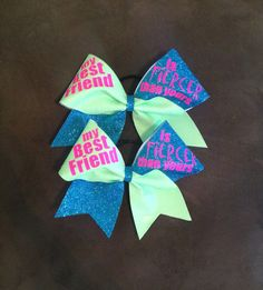 Best friends cheer bows! Price is for both bows