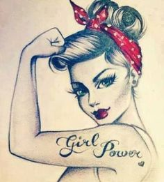 tatouage femme pin up tattoo designs ideas männer männer ideen old school quotes sketches Tattoo Girls, Pin Up Girl Tattoo, Girl Power Tattoo, Pin Up Tattoos, Girl Tattoos, Tattoos For Women, Tatoos, Power Girl, Tattoo Couples